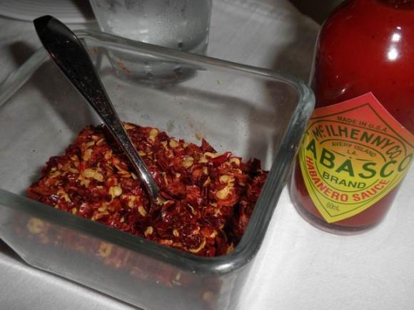 chili and tabasco