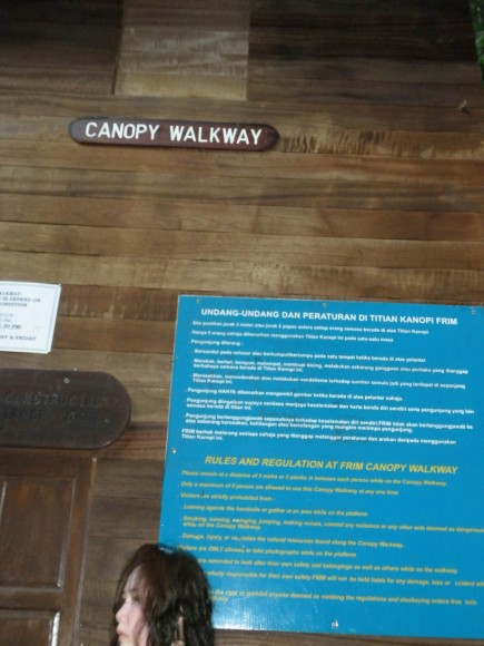 rules for using canopy walk